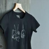 """Camiseta ecológica """"Los zapatos de los bailaores, silenciosos, descansan"""""""